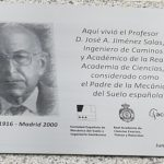 Placa conmemorativa Profesor Jiménez Salas