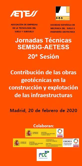 20ª JORNADA TÉCNICA SEMSIG-AETESS @ Salón de Actos del CETA - CEDEX